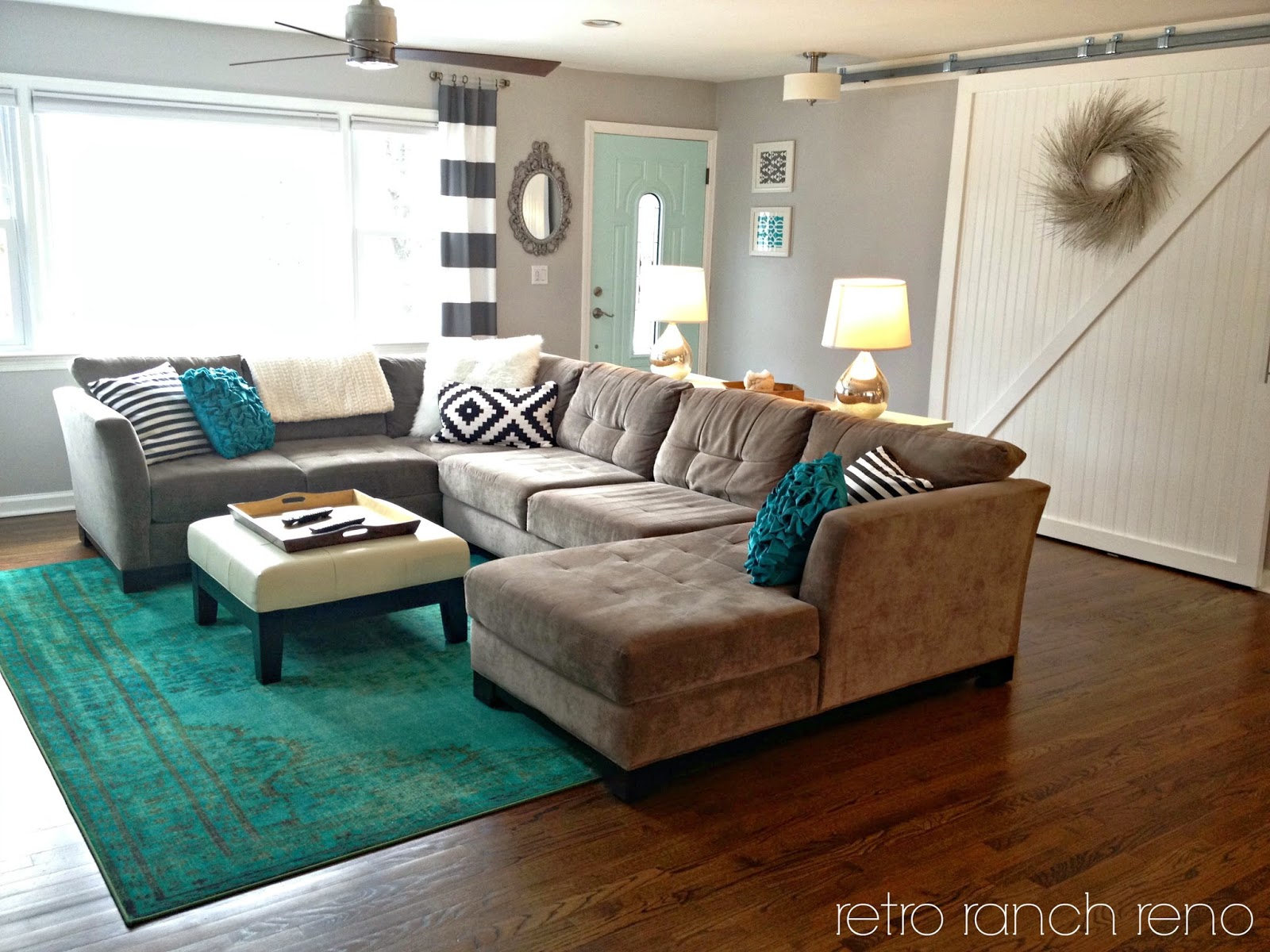 teal living room rug retro ranch reno great room rugs 12218