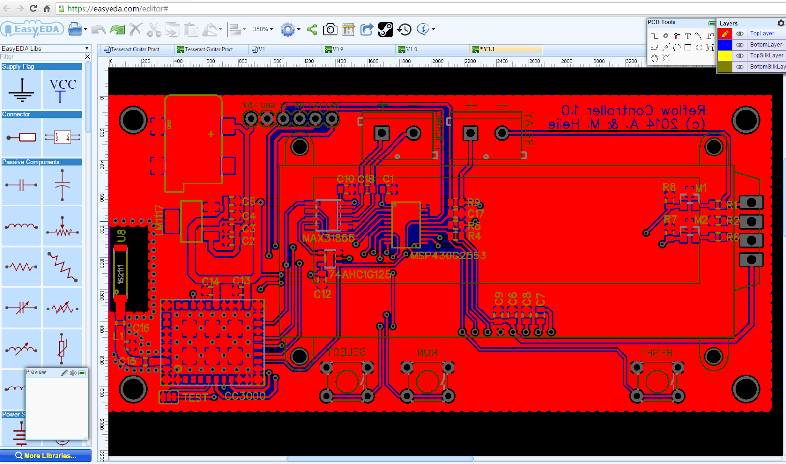RPiBlog: Online Circuit Simulator and PCB design software - EasyEDA