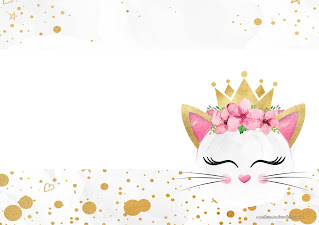 Cat Princes: Free Printable Invitations.