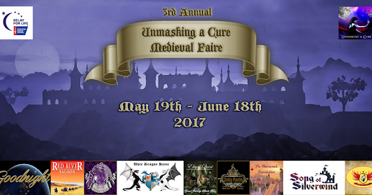 3RD ANNUAL MEDIEVAL FAIRE: WE'RE GOING MEDIEVAL ON CANCER!! May 19th-June 18th