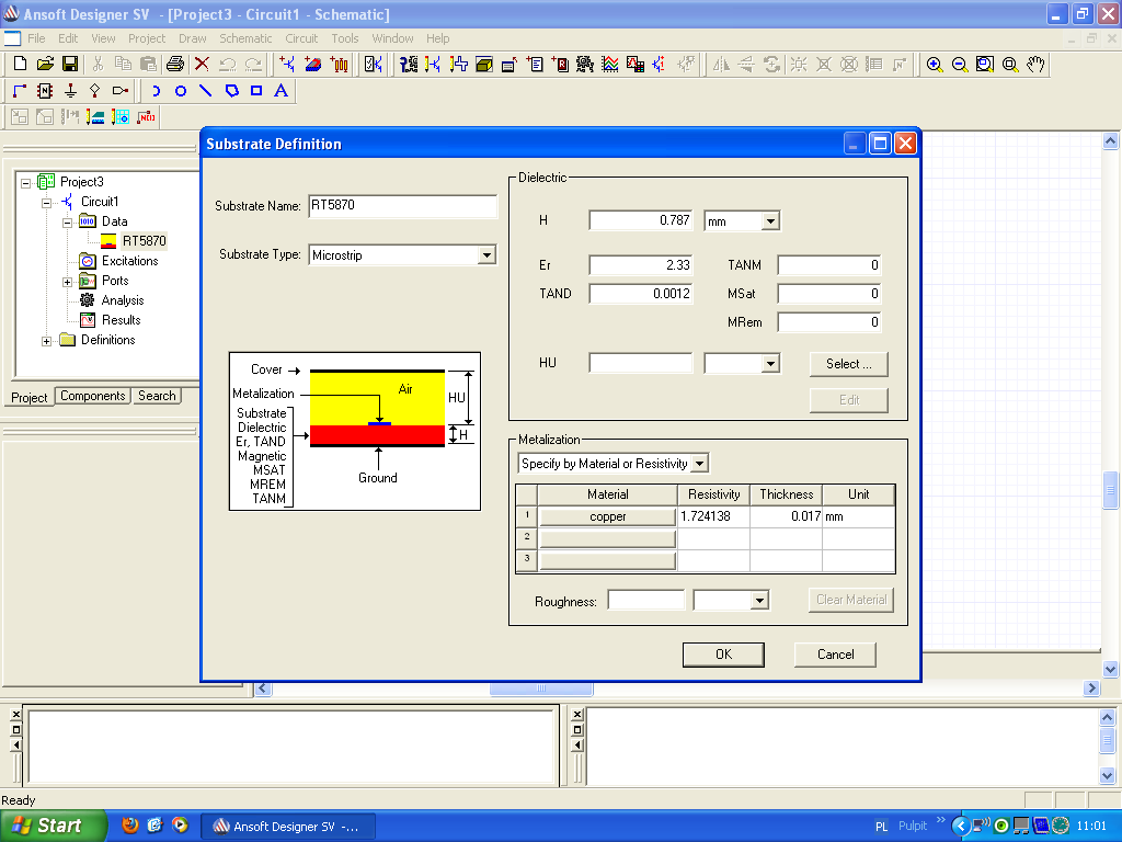 Android Dev & other stuff   : Microstrip Calc & Ansoft Designer