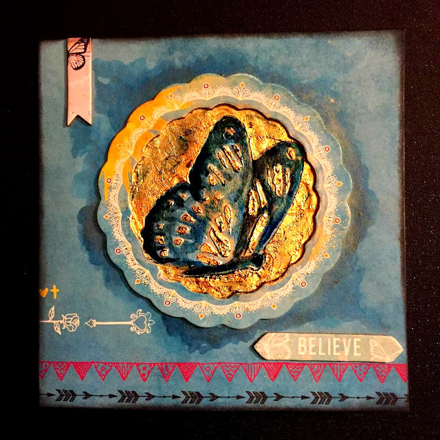 Easter Card by Ombretta Fusco using Bobunny Faith and Pentart Patina Prodoucts