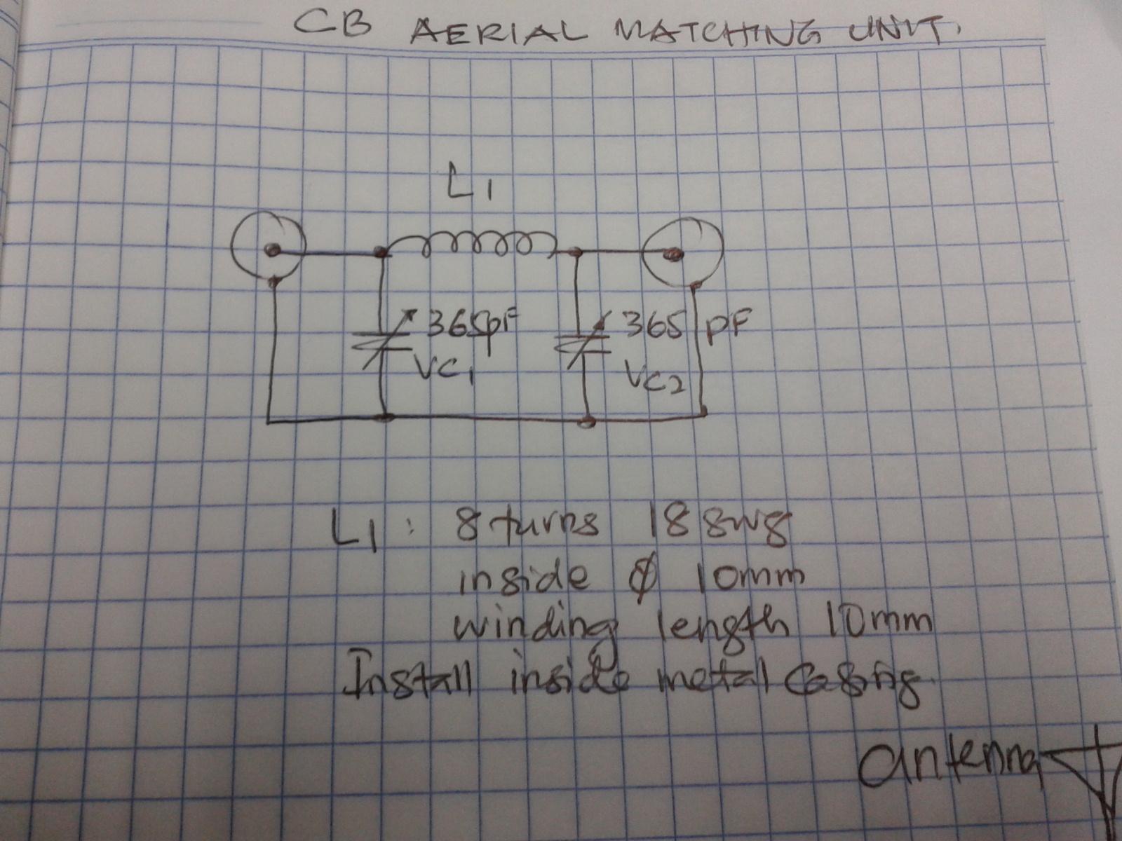 Antenna Tuning Unit Atu For 27mhz Cb Radios Circuit Diagram