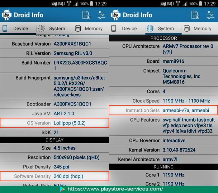 تطبيق Droid Hardware Info