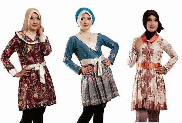 Model Baju Batik Wanita Kekinian