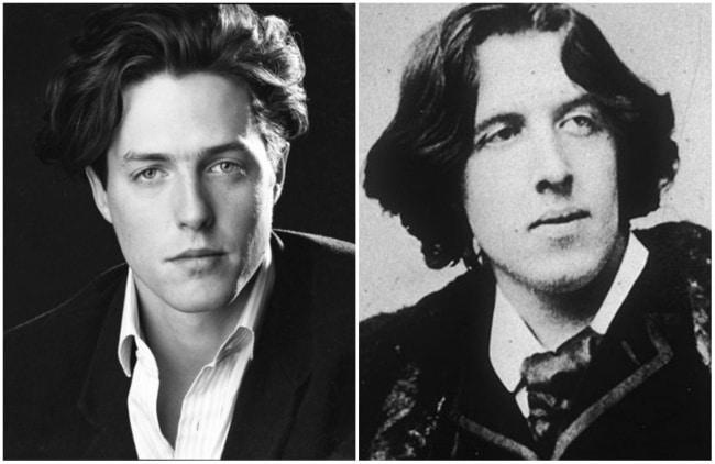 Hugh Grant e o famoso escritor irlandês Oscar Wilde
