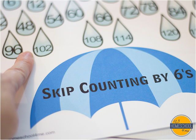 skip counting visual