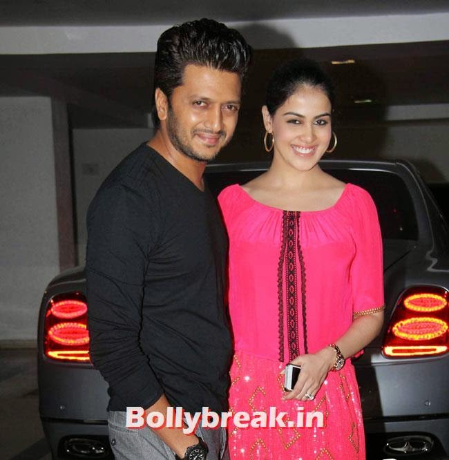 Ritesh Deshmukh and Genelia D'Souza, Karan Johar Birthday Party Pics 2014
