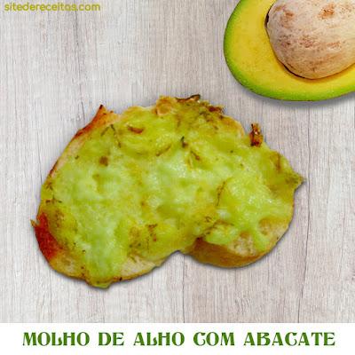 Molho de alho com abacate