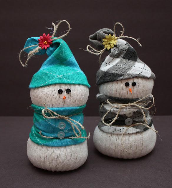 Molto New donna blog: Lavoretti di Natale: pupazzi di neve fai da te JQ48