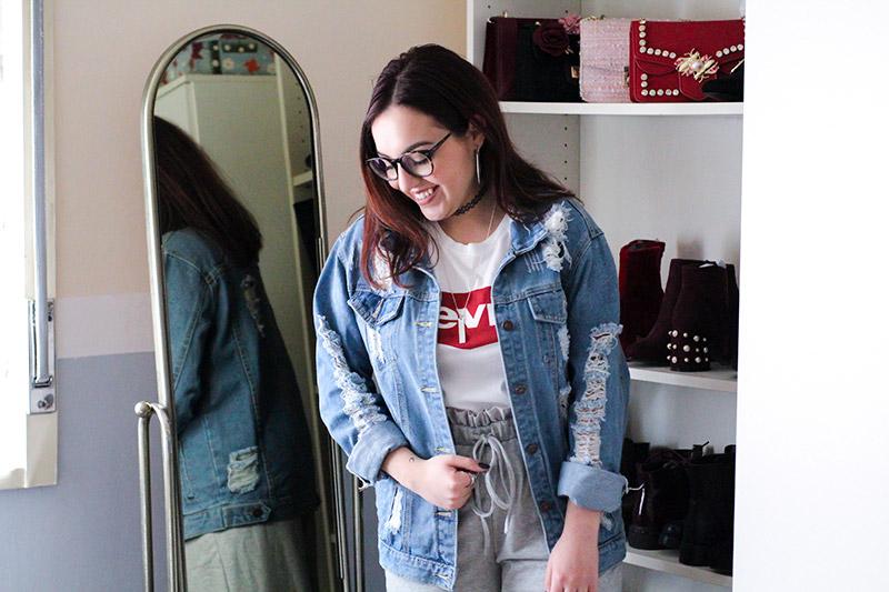 Giubbotto di jeans oversize