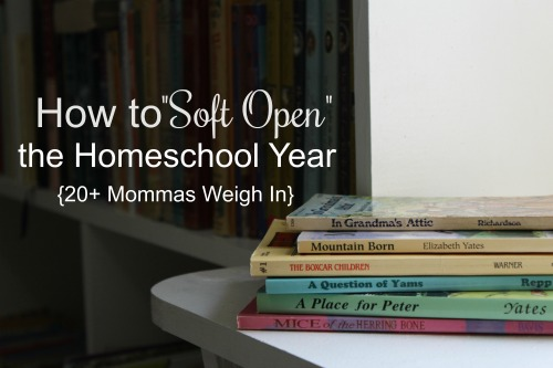 "The first few weeks of homeschool don't have to be marked by chaos. A ""soft open"" provides the grace that you need to launch well."