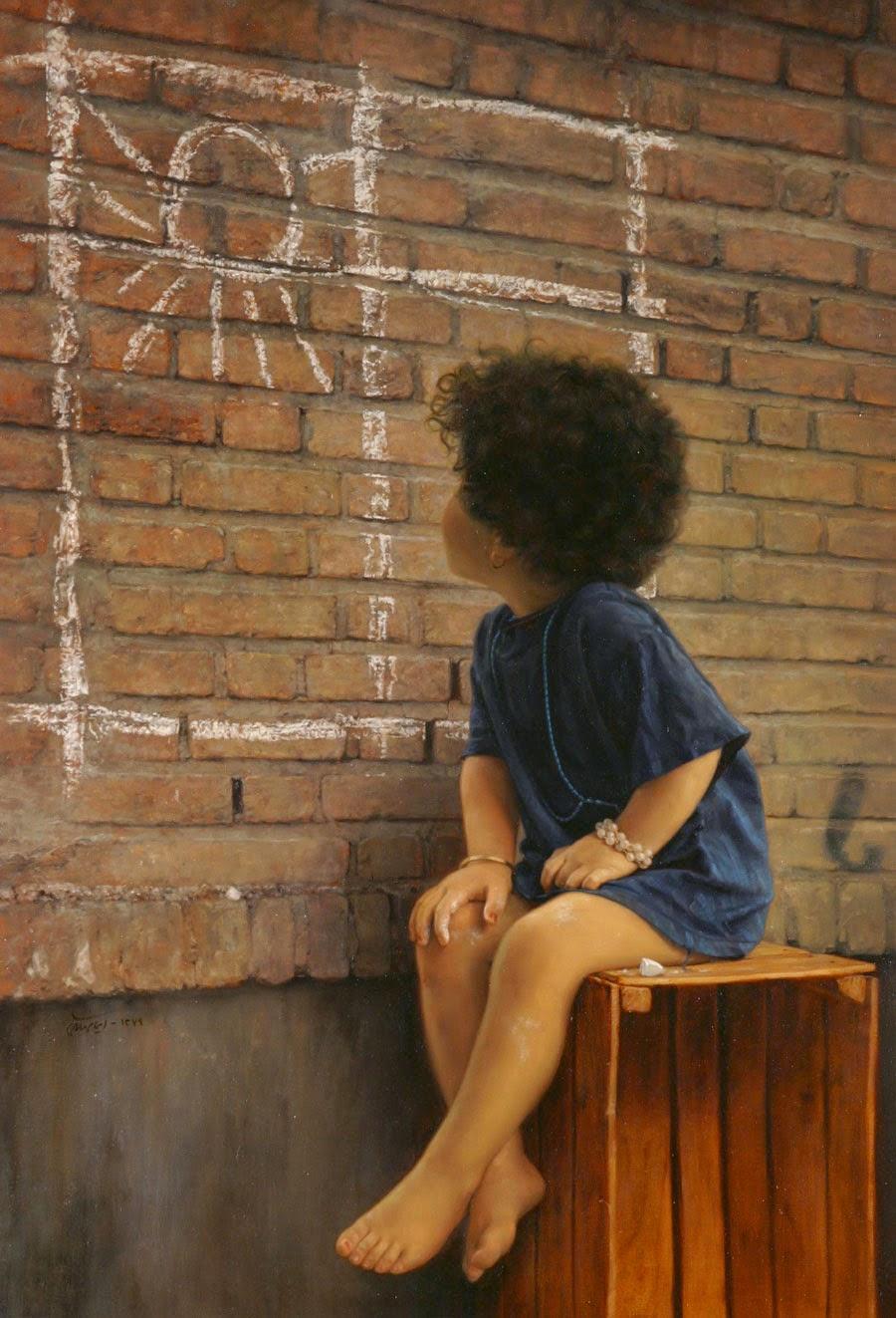Desejo - Iman Maleki e suas pinturas realistas ~ Pintor iraniano