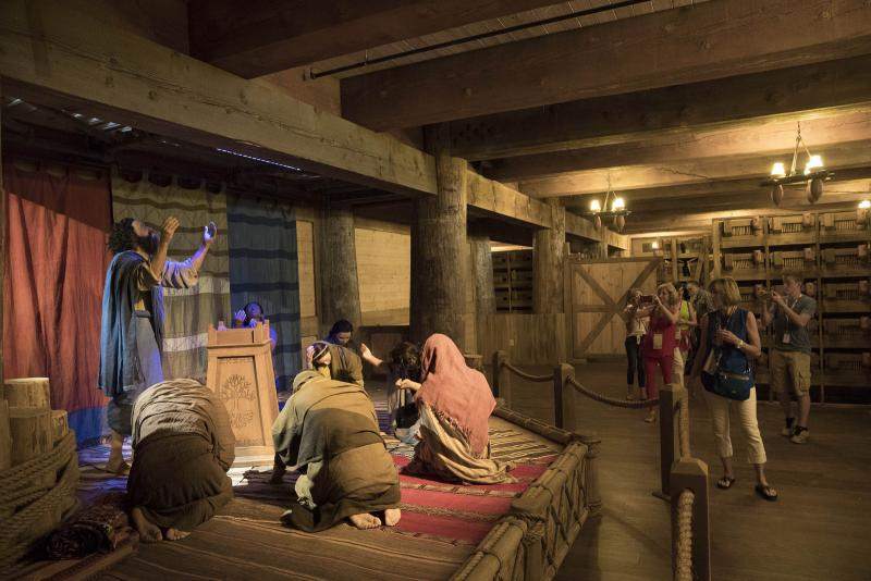 Exhibits inside the ark which tells the story of Noah