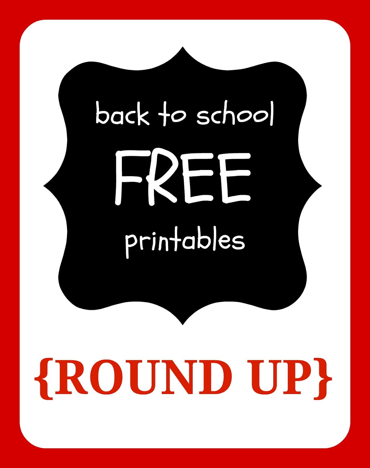 Free Printables Free Back To School Printables