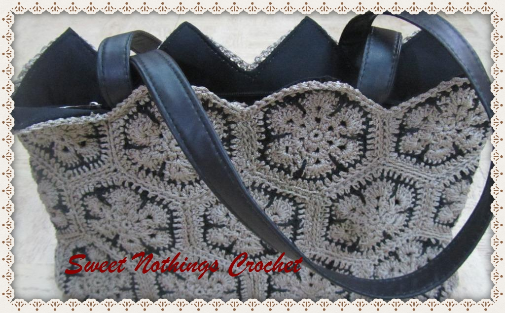 Sweet Nothings Crochet My African Flower Tote
