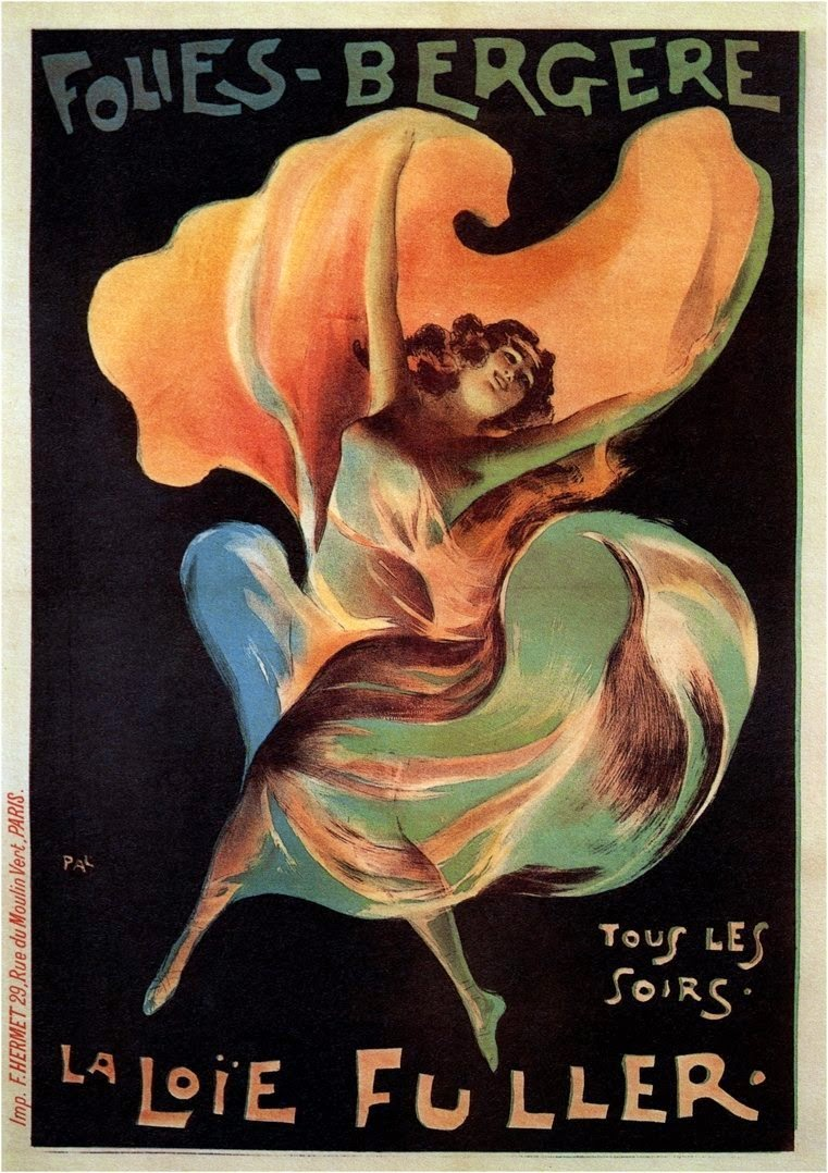 be27a0c0cc6 Jules Chéret: La Loie Fuller, Folies Bergères, December 31, 1892 ...