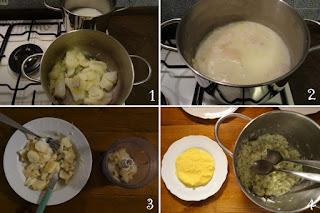 Foto preparazione polenta e baccalà per bambini