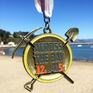Across the Bay 12K medal 2016