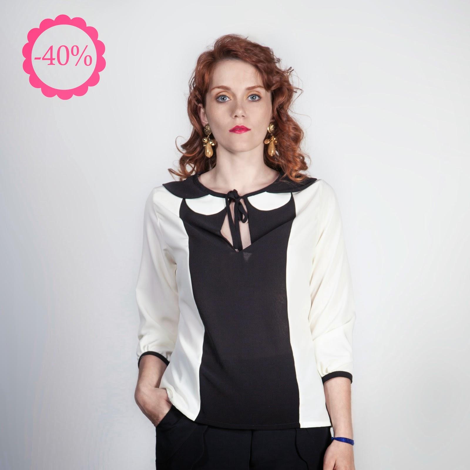 Blusa blanco y negro, La Böcöque, tienda online, ropa chica