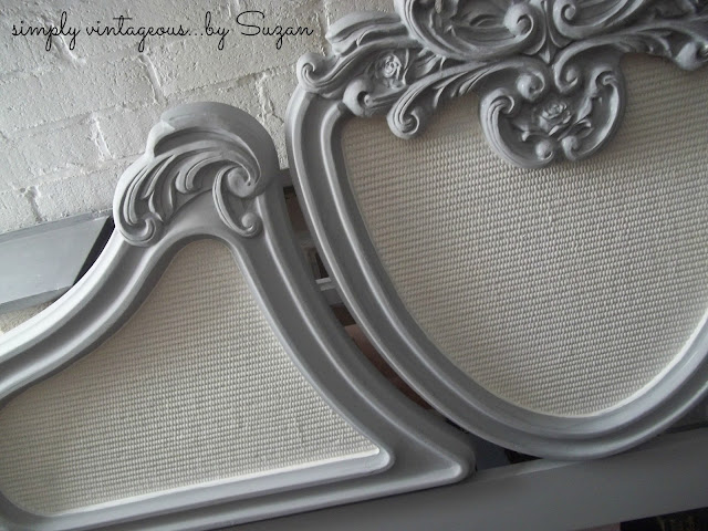headboard, before, after, paris grey, pure white, french provincial