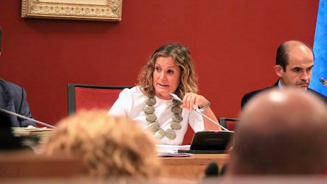 Imagen de archivo de la alcaldesa durante un pleno