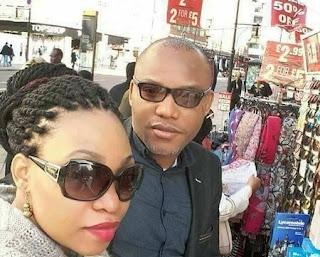 Nnamdi Kanu and Girlfriend