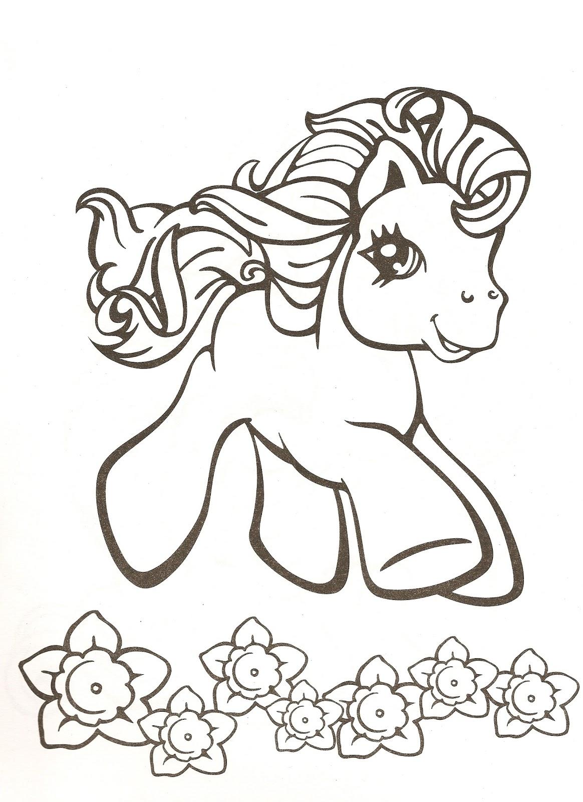 Mi pequeo Pony para colorear | Dibujos Para Colorear