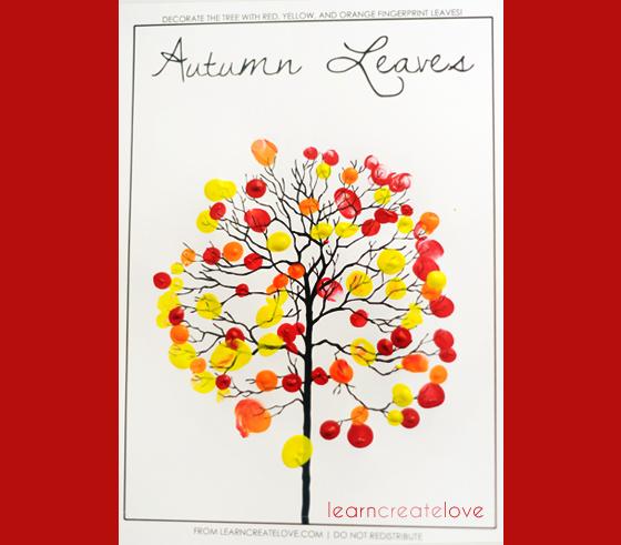 Tepehomegiller Parmak Boyası Ile Sonbahar Ağacı