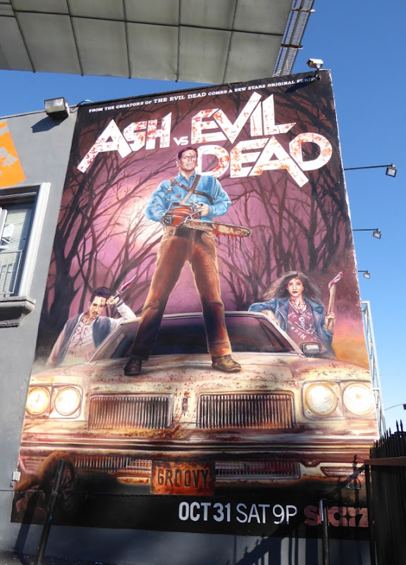 Ash vs Evil Dead series launch wall mural
