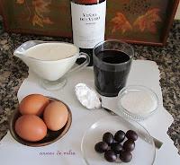 Crema de huevo al vino Somontano en microondas