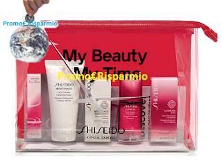 Logo Regalo sicuro : il Kit ''My Beauty My Time'' con 5 prodotti Shiseido