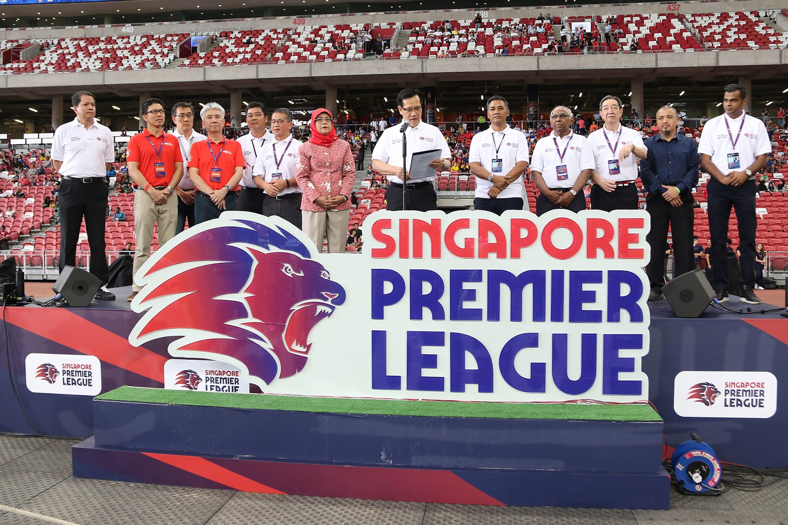 The launch of the Singapore Premier League (SGPL) at National Stadium eb86d042f346f