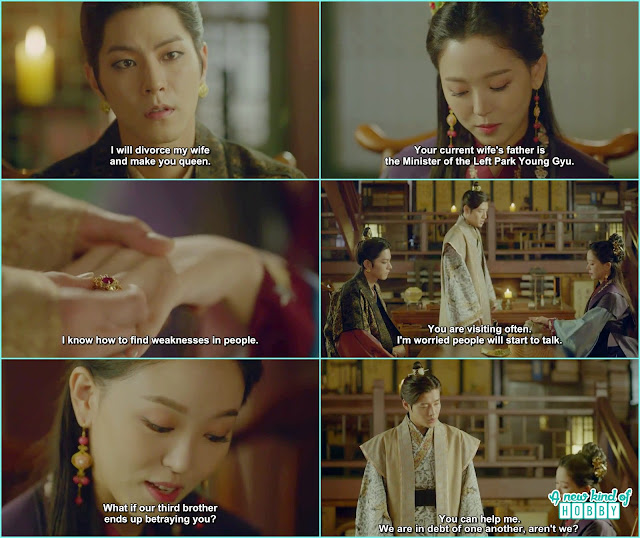 3rd prince gave a ring to yeon hwa and 8th Prince plan all to make a hostage of yeon hwa if nothing he could achieve  - Moon Lover Scarlet Heart Ryeo - Episode 12 - Review