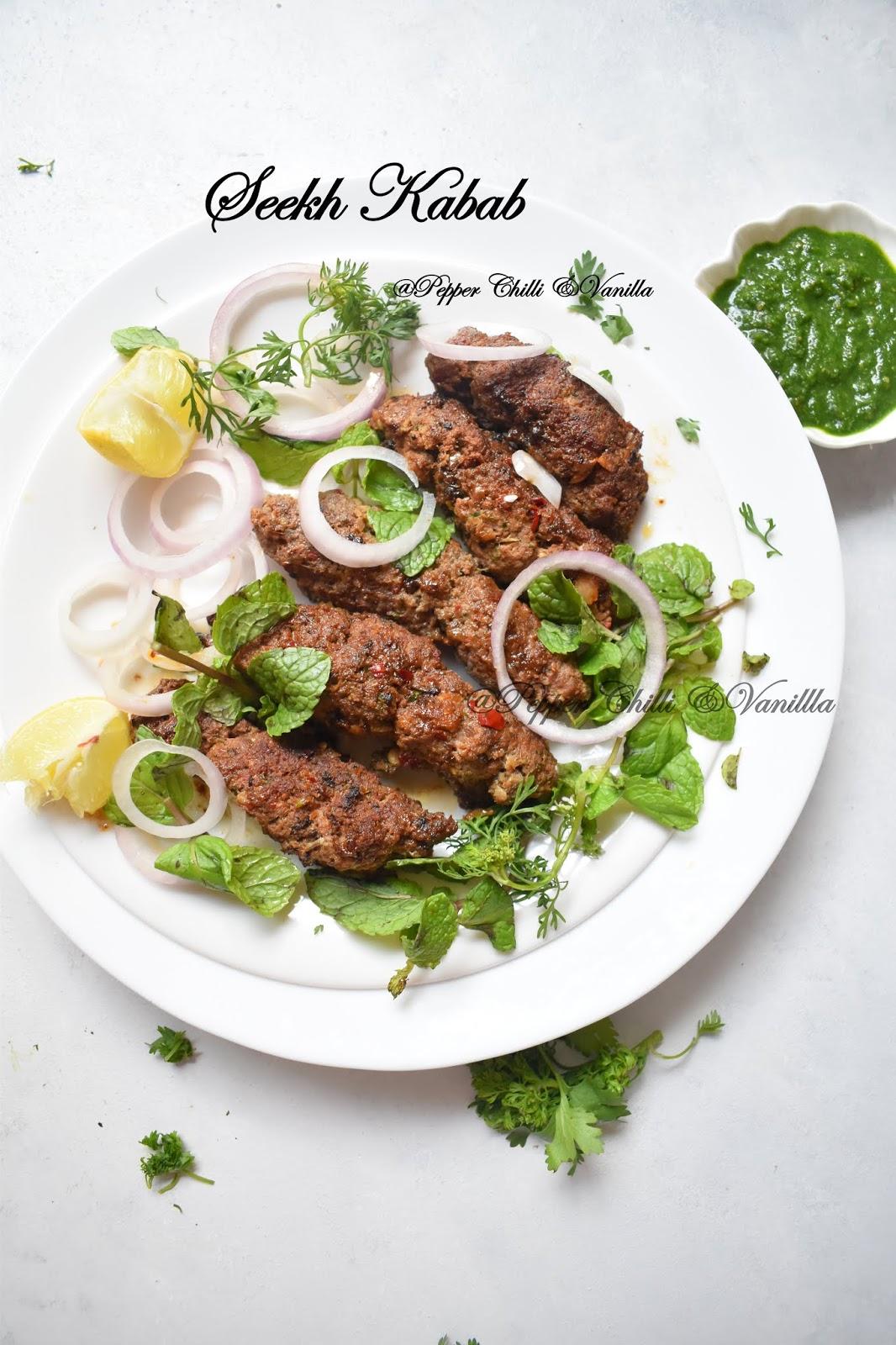 how to make seekh kabab/seekh kabab