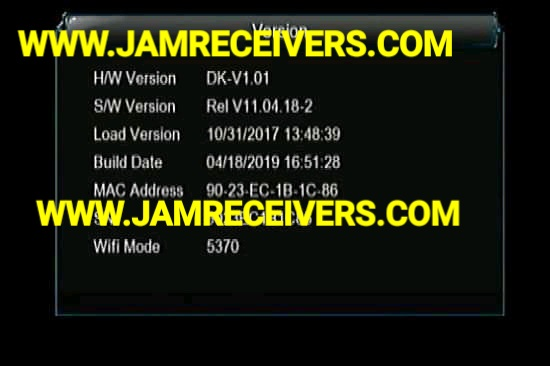 1507G SCB4 8MB NEW POWERVU SOFTWARE 2019 BY JAM RECEIVERS