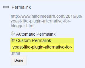 use custom parmalink