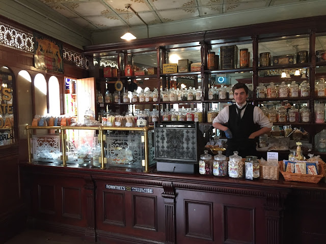 traditional sweet shop at Beamish museum