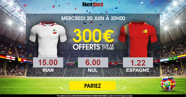 300 EUROS OFFERTS INSCRIPTION NETBET CODE PROMO BONUS