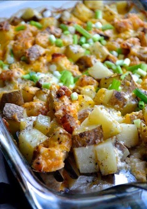 Best Recipes In World Loaded Baked Potato Casserole
