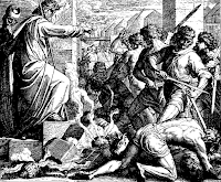 Moses sends kill the idolaters. Ex. 32: 26-28.