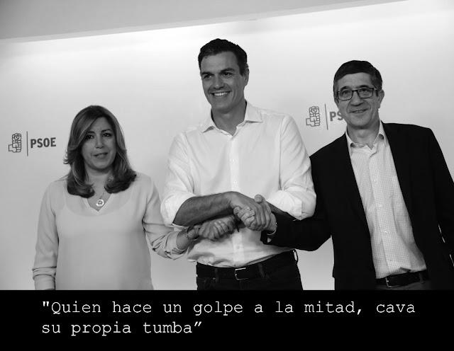 Primarias PSOE Susana Díaz, Pedro Sánchez y Patxi López