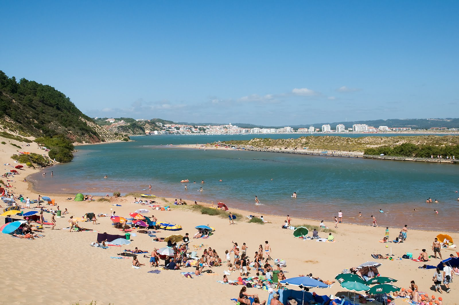Sao Martinho do Porto viewed from the big dune