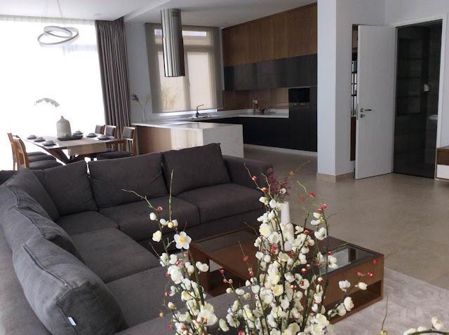 Phòng khách biệt thự The Venica đơn lập cho thuê