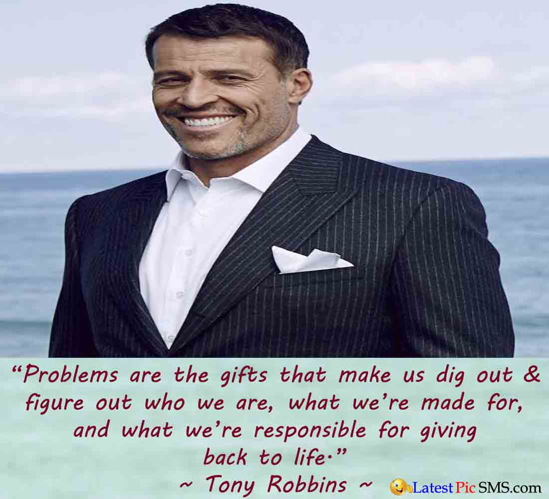 tony robbins life thought - SMS of The Day in English with Pictures for Whatsapp & Facebook