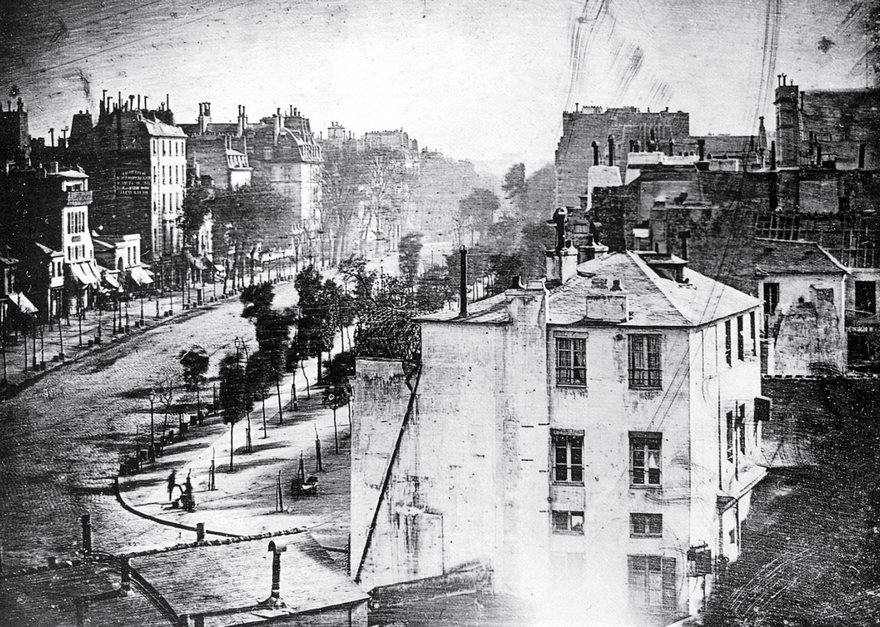#59 Boulevard Du Temple, Louis Daguerre, 1839 - Top 100 Of The Most Influential Photos Of All Time