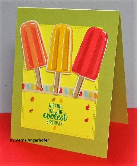 Sunny Studio Stamps: Sunny Saturday Summertime Customer Card Share by Verna Angerhofer