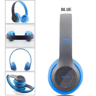 cuffie bluetooth p47 blue