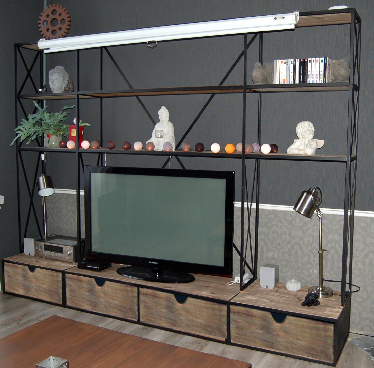 blog de la maison de l imaginarium l ambiance factory 100 sur mesure bibliotheque meuble tv