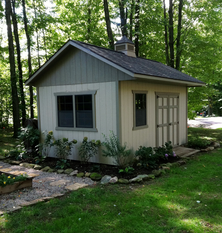 Brick Around Shed With Mulch And Flowers: Nice, Sheds And Shed Landscaping On Pinterest